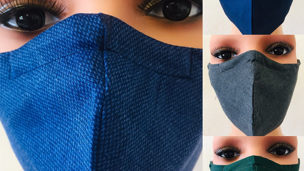2 Layers Cotton Mask with Nose Strip