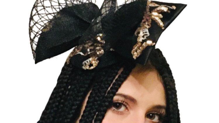 Black Bow Wedding Fascinator