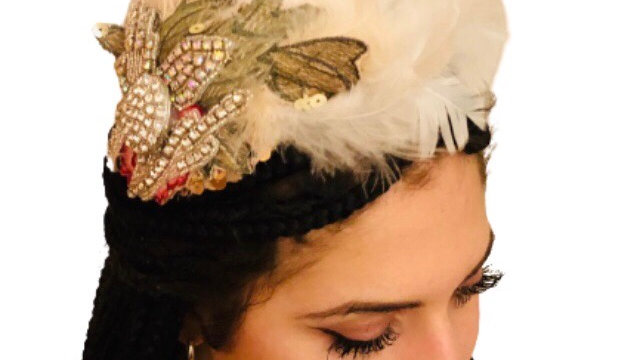 Ivory/white Feather Wedding Fascinator