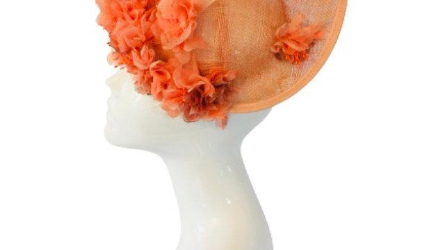 Orange Flower Wedding Hat