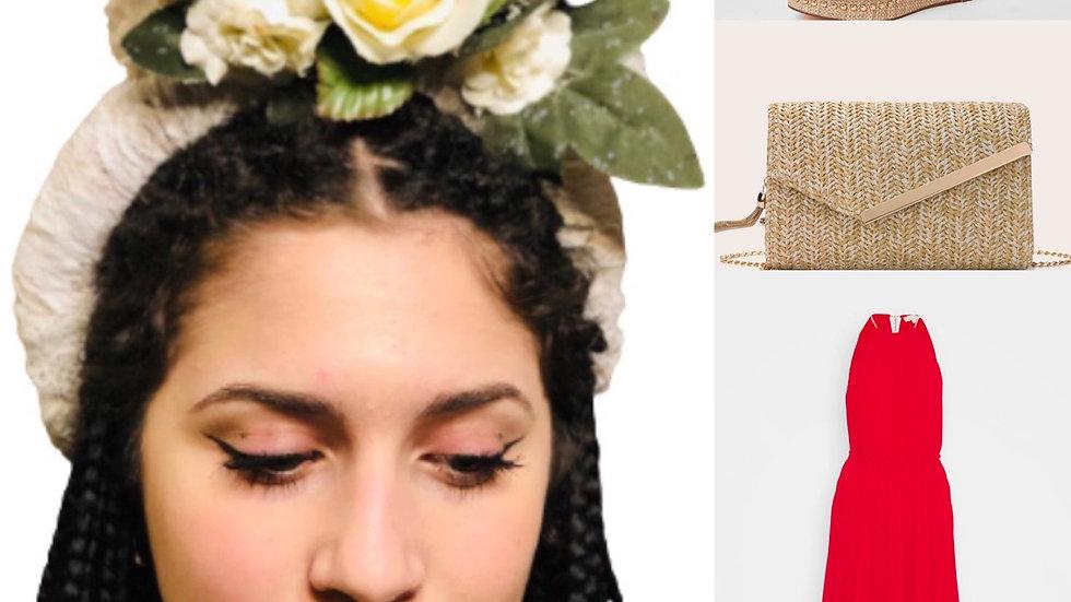 Ivory Wedding Flower Crown