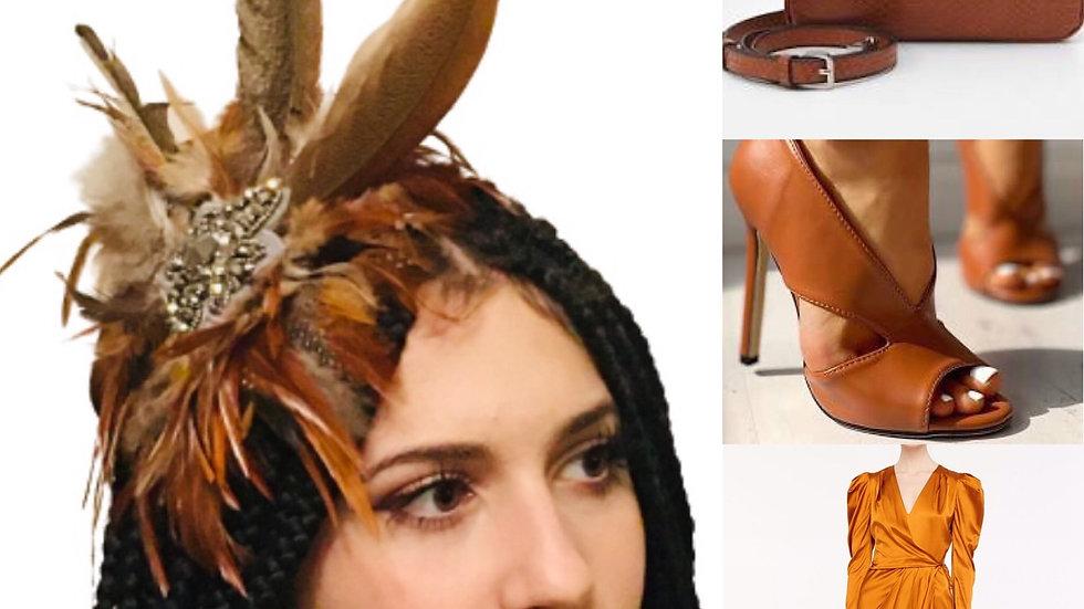 Brown Feather Wedding Fascinator