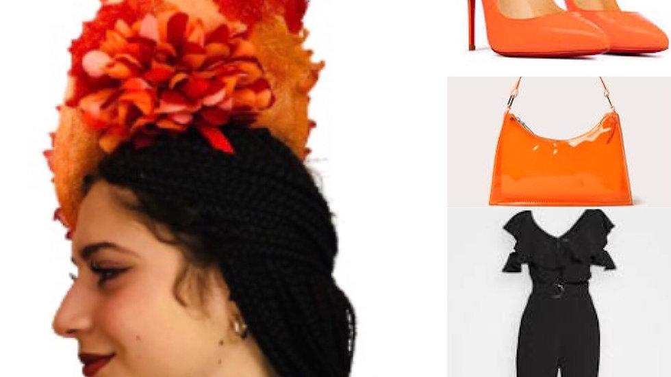 Red/Orange Wedding Hat