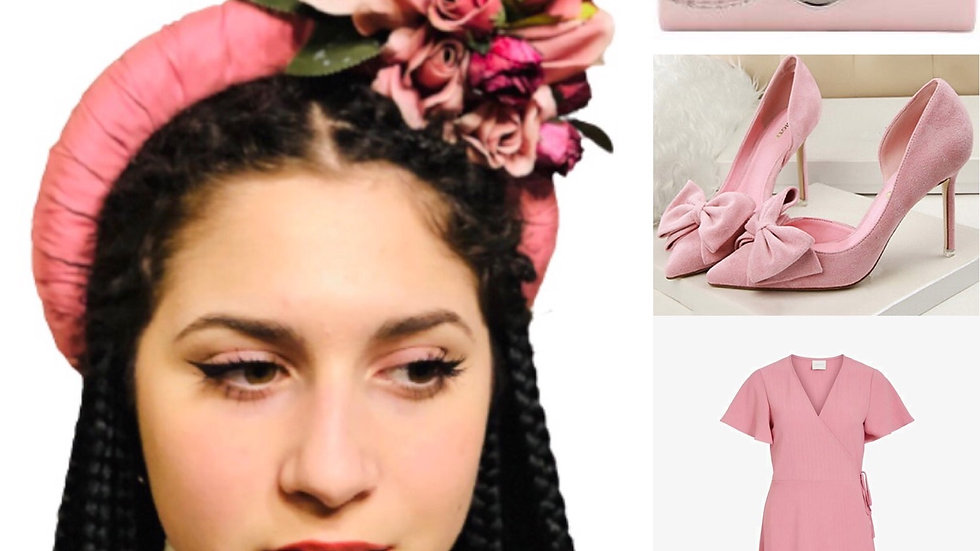 Pink Wedding Flower Crown