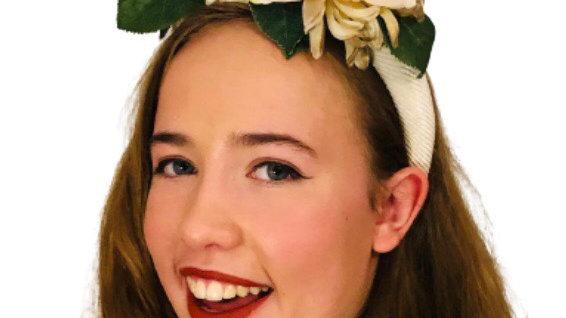 Cream Wedding Flower Headband