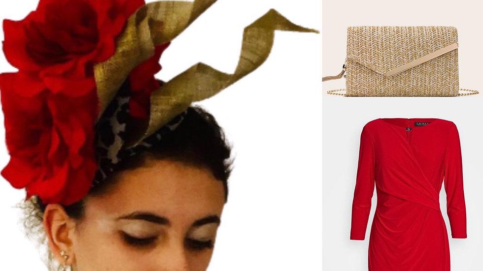Red Flower Hat
