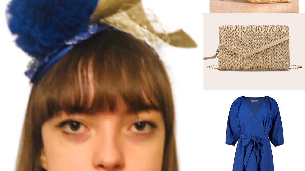 Blue Wedding Fascinator