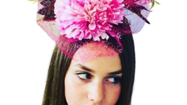 Pink Flower Wedding Fascinator