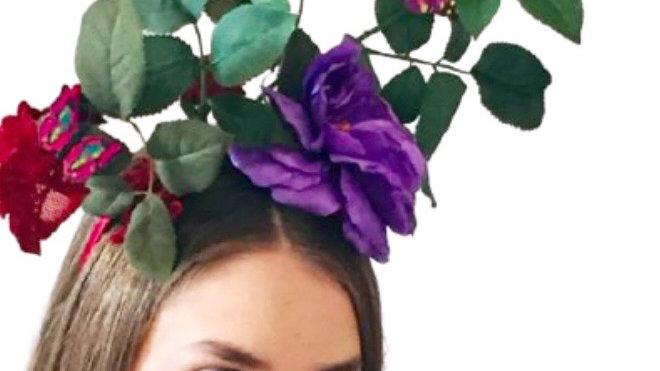 Purple Flower Butterfly Weddings Hat