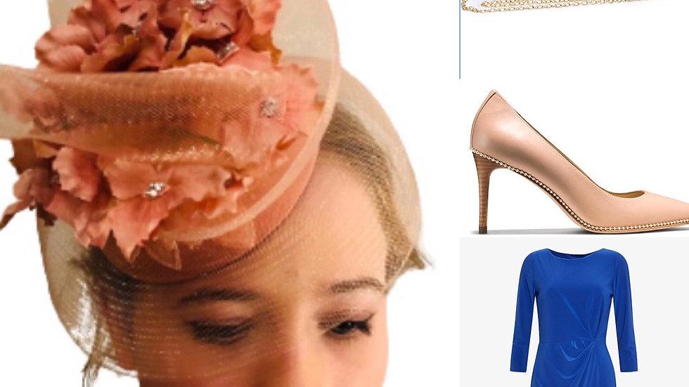 Peach Wedding Hat