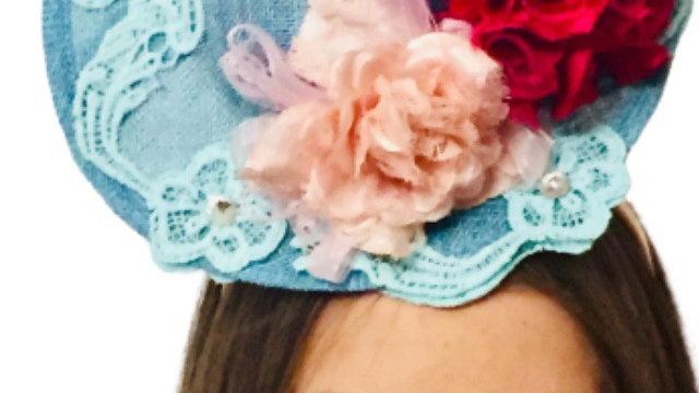 Turquoise Percher Wedding Hat