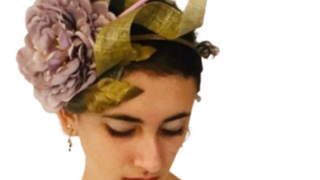 Lilac Flower Wedding Hat