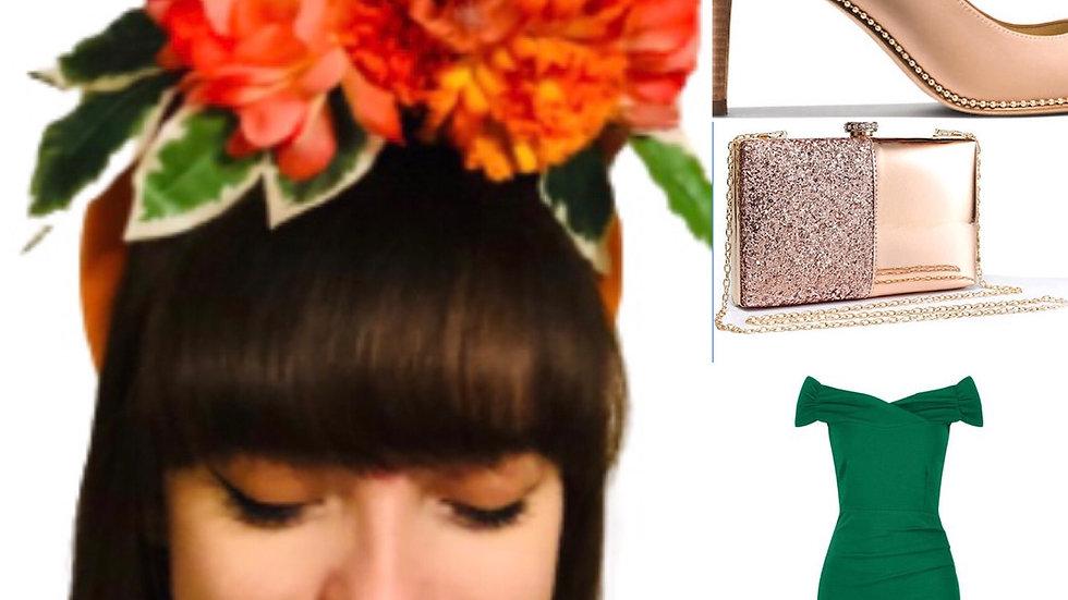 Orange Wedding Flower Crown