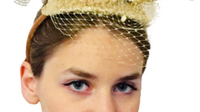 Gold Wedding Birdcage Fascinator
