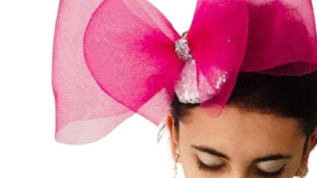 Pink Bow Wedding Fascinator