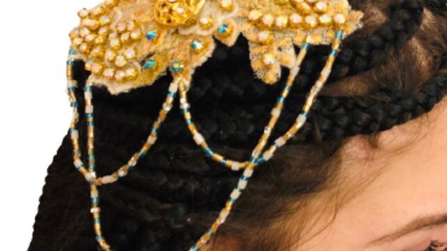 Gold Beaded Headpiece