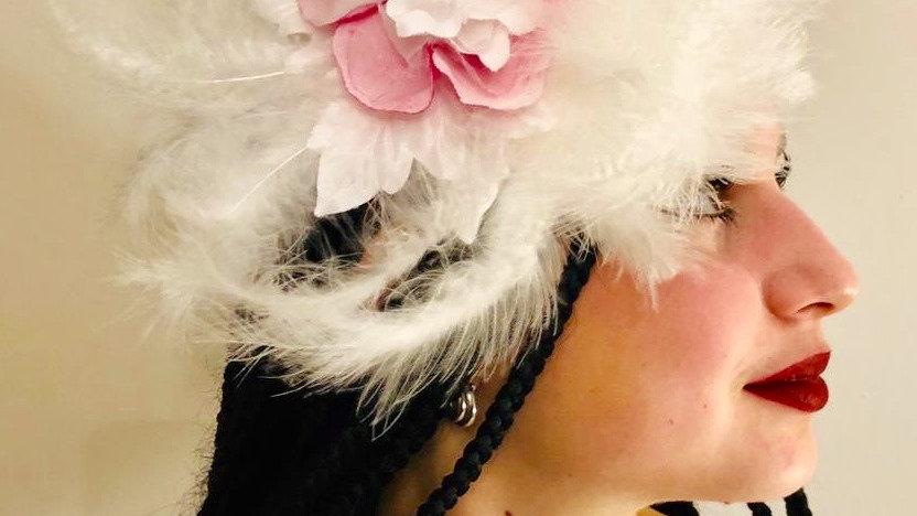 White Feather Wedding Hat