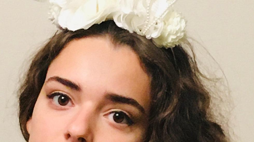 Ivory Wedding Half Flower Crown