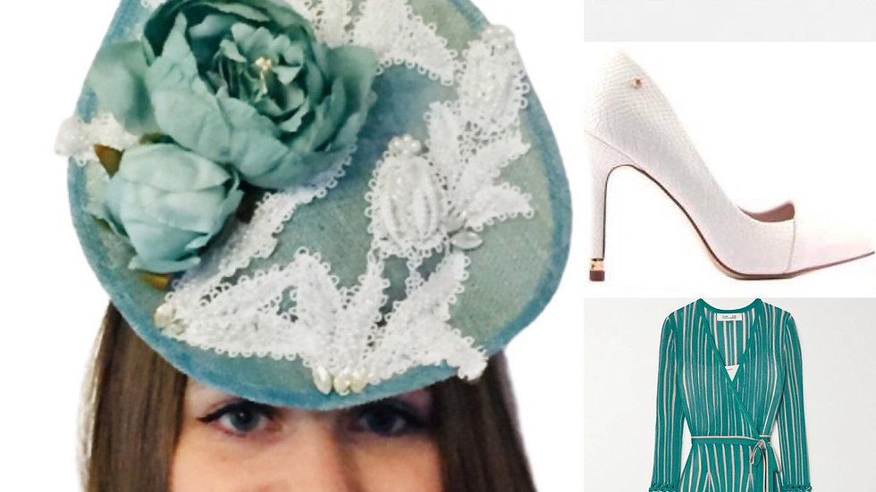 Turquoise Wedding Hat