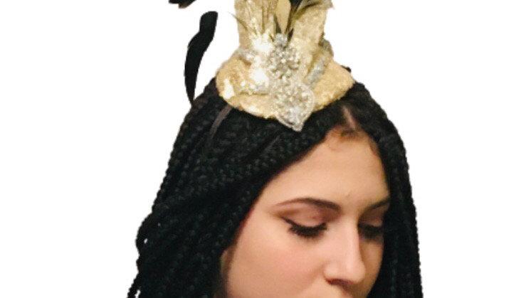 Gold /Black Wedding Fascinator