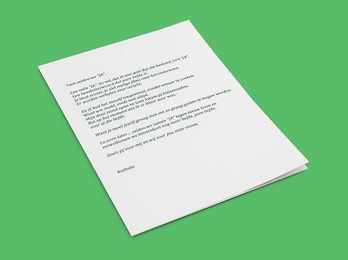 Getypte brief op Word