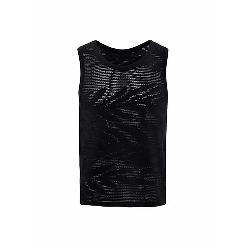 BLACK PALM TANK TOP