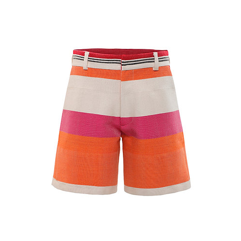 HAND WOVEN PINK SHORTS