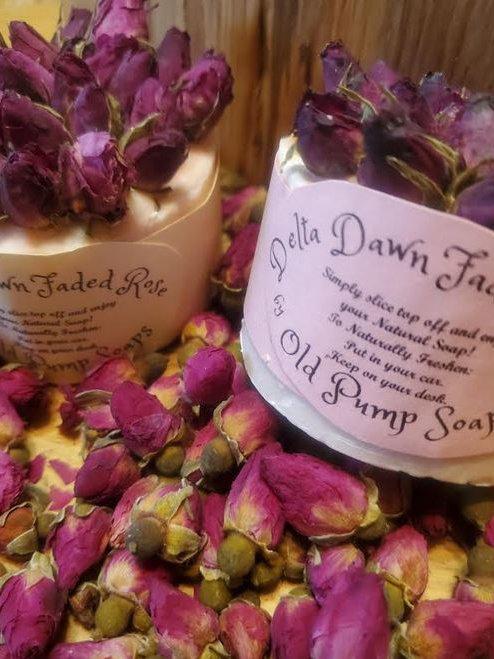 """""""Delta Dawn Faded Rose"""" Potpourri Soap"""