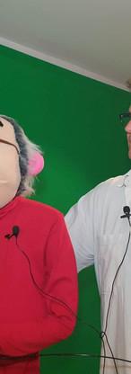 Papy pistou pizzaïolo arm rod puppets