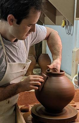 throwing pottery, alan perillo