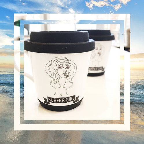 シリコン リッド&ソール付マグカップ 2個セット −Roko Girl−