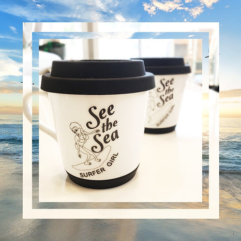 シリコン リッド&ソール付マグカップ 1個 −See the Sea−