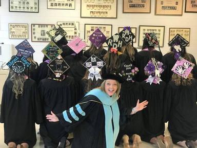Decoratd caps with Dr. Klenk!