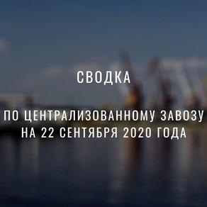 Сводка на 22.09.2020