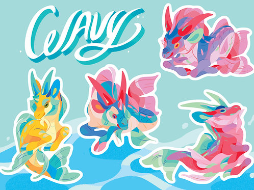 Wavy Sticker Sheet
