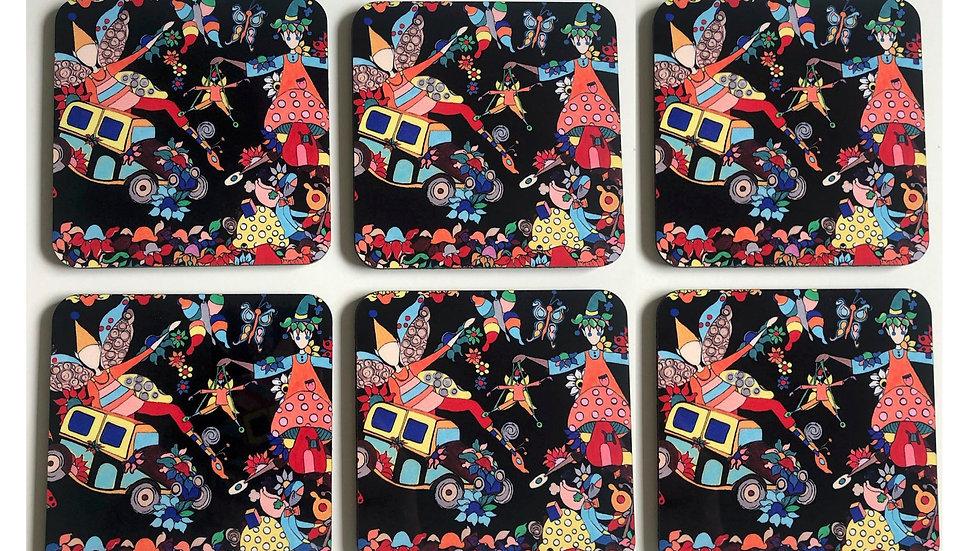 6 Drink coasters #1