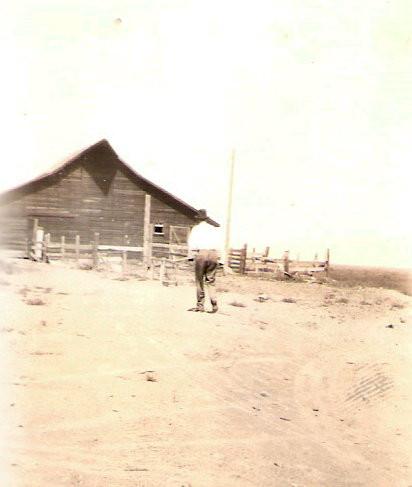 Grandpa & the barn