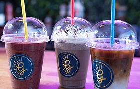 A smoothie, shake and iced coffee from the Goode Kitchen
