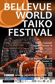 Web Poster Bellevue World Taiko Festival