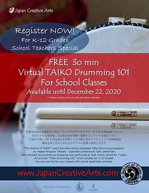 Virtual Taiko Drumming 101  for Schools