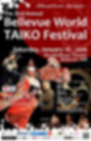 Bellevue World TAIKO Festival Poster web