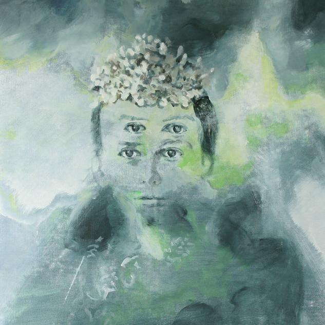 """Bild 5 aus der Malerei-Installation """"Cloud 1 (Konfirmanden)"""""""