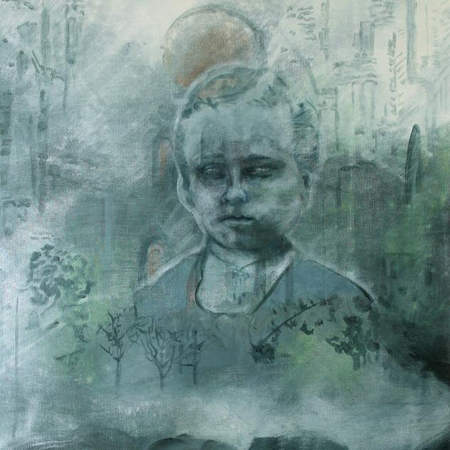 """Bild 3 aus der Malerei-Installation """"Cloud 1 (Konfirmanden)"""""""