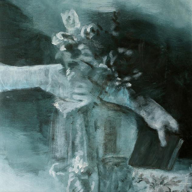 """Bild 6 aus der Malerei-Installation """"Cloud 1 (Konfirmanden)"""""""