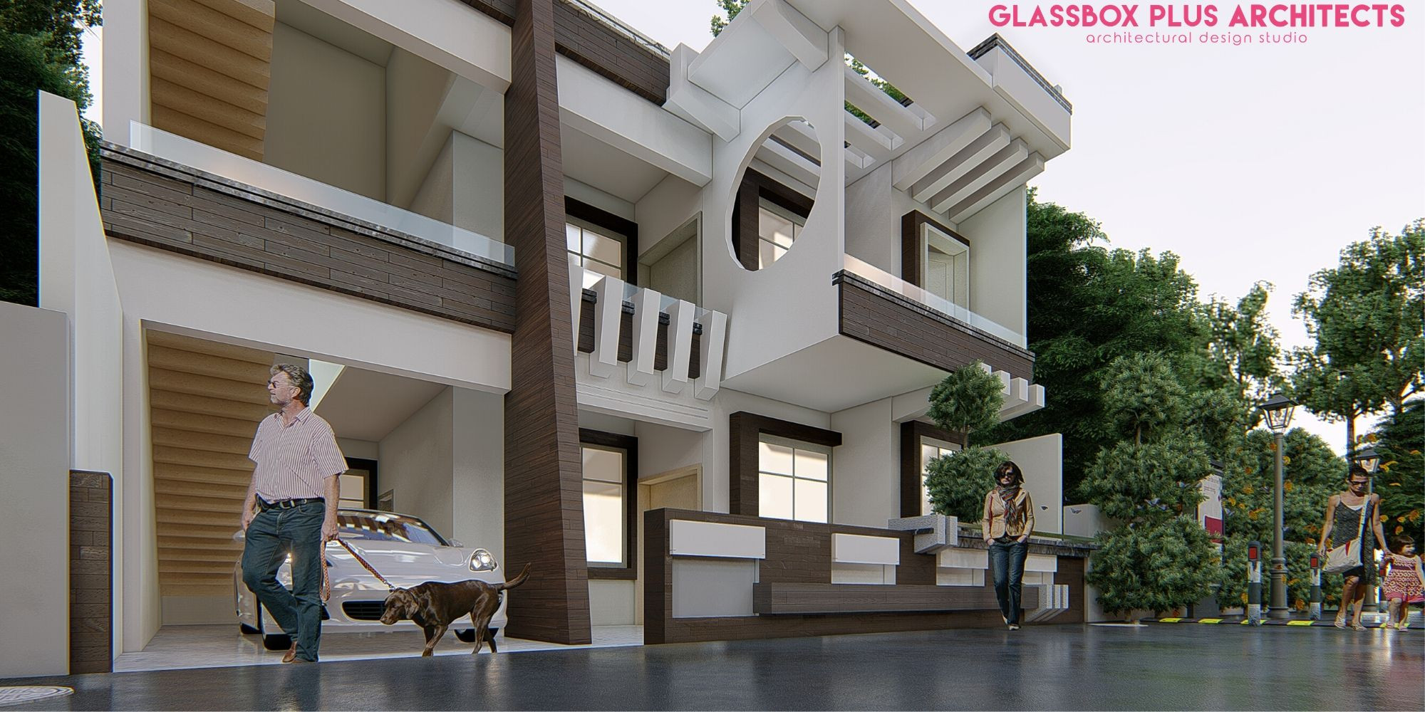 House Design by Glassbox Plus Architects in Lucknow