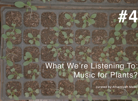 What We're Listening To #4: Music For Plants?