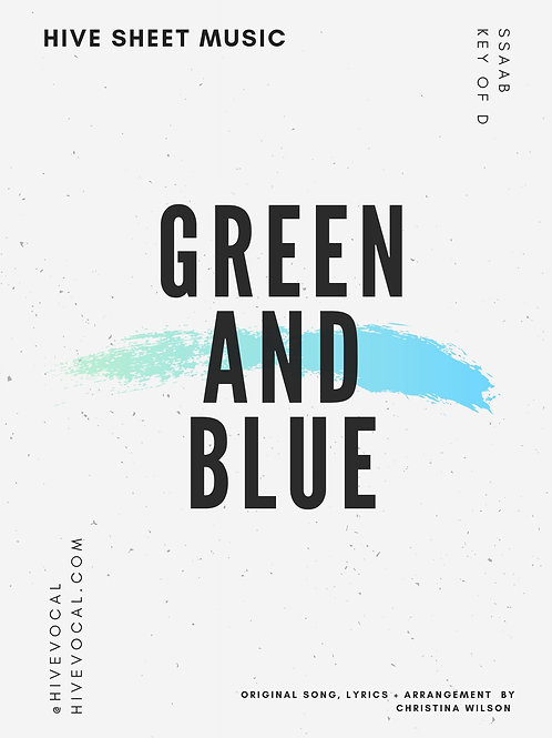 Sheet Music - Green and Blue
