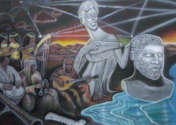 Music History Mural: Malibu High School