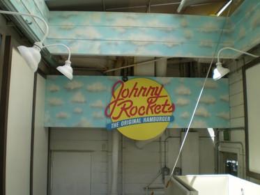 Airbrush Logo/Mural: Johnny Rockets San Francisco