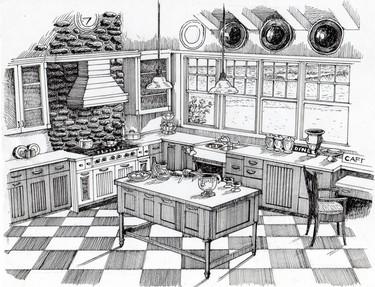 Real Estate Sketch Kitchen: Client Work